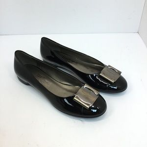 Salvatore Ferragamo Patent Leather Buckle Flats